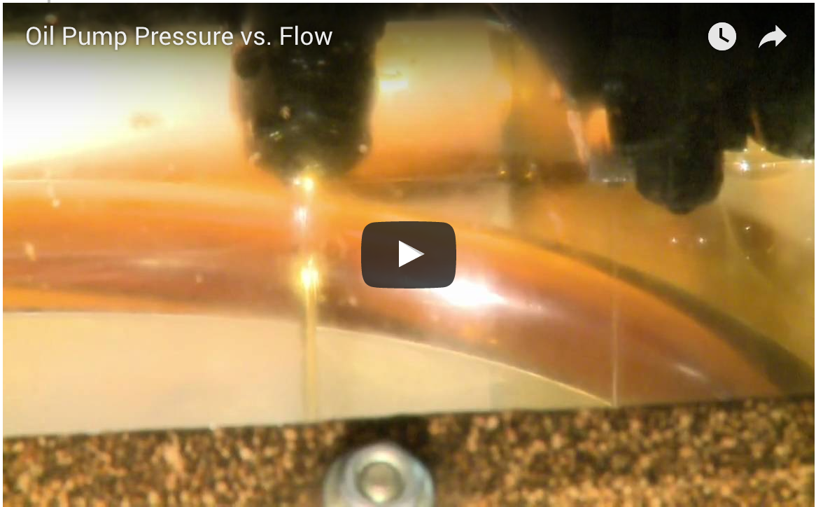 Oil Pump Pressure vs. Flow