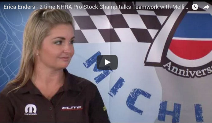 Erica Enders - 2 time NHRA Pro Stock Champ talks Teamwork with Melling