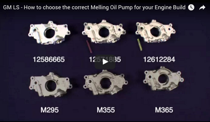 GM LS - How to choose the correct Melling Oil Pump for your Engine Build
