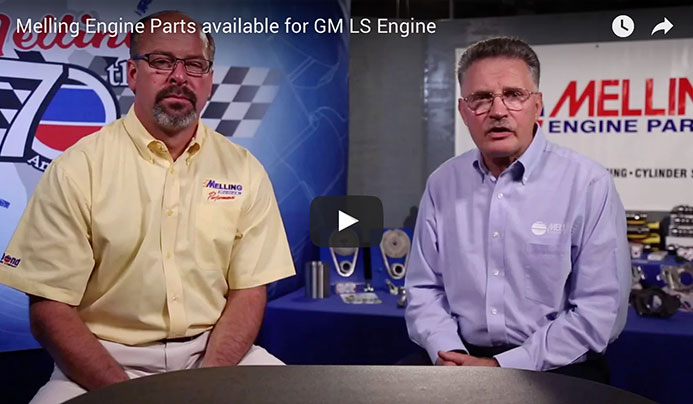Melling Engine Parts available for GM LS Engine