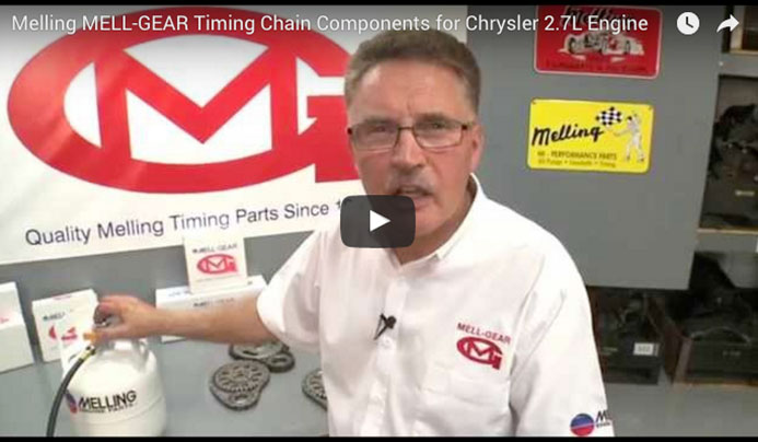 Melling MELL-GEAR Timing Chain Components for Chrysler 2.7L Engine