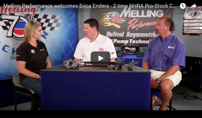 Melling Performance welcomes Erica Enders - 2 time NHRA Pro-Stock Champ!