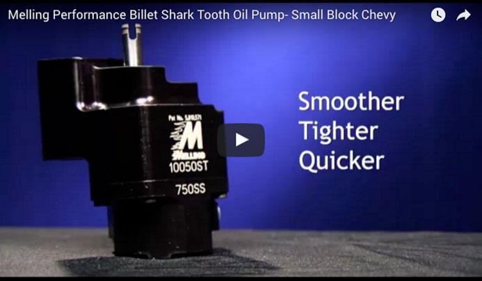 Melling Performance Billet Shark Tooth Oil Pump- Small Block Chevy
