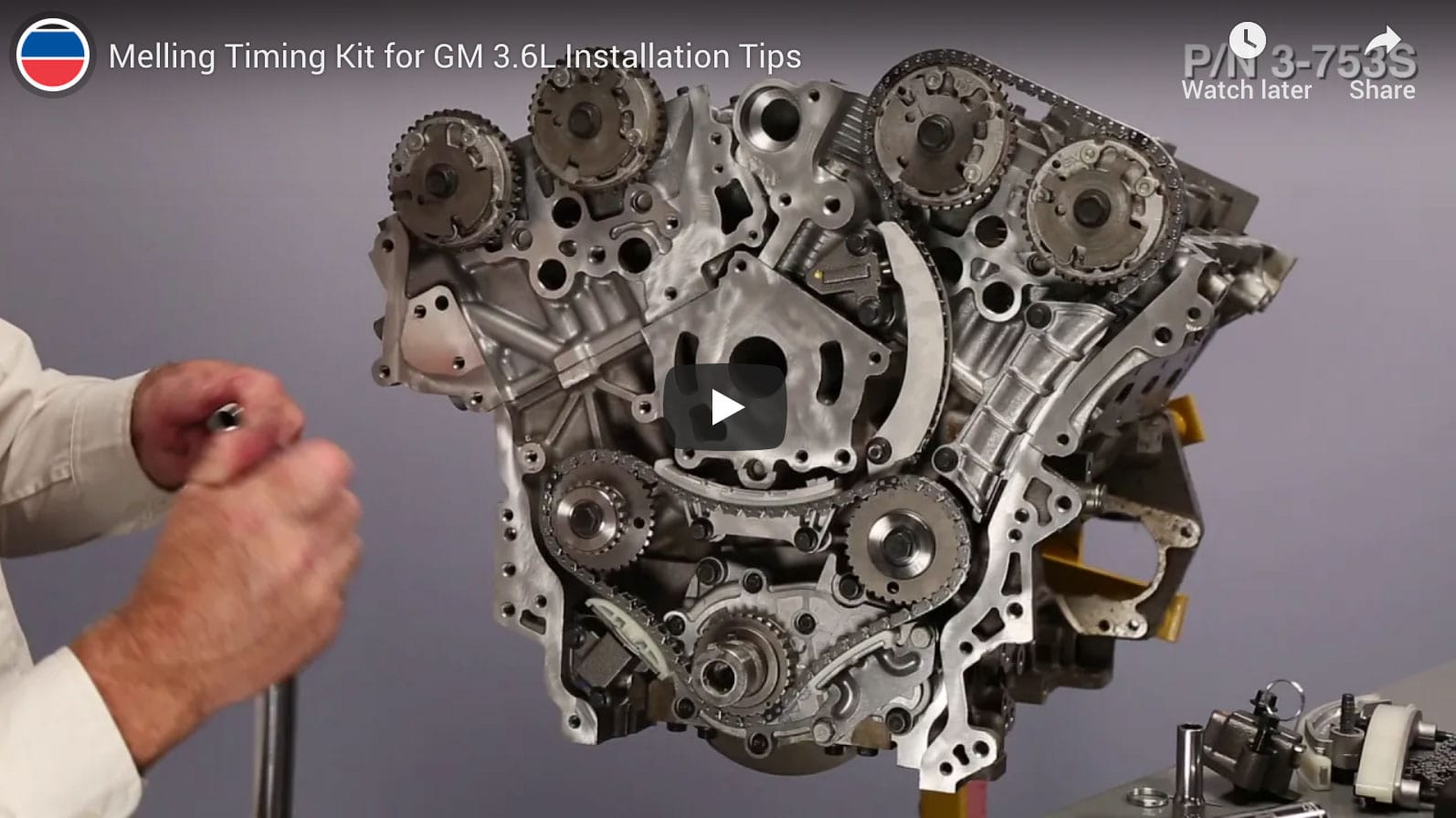 Installation Tips for GM 3.6L Melling Timing Kit Part # 3-753S